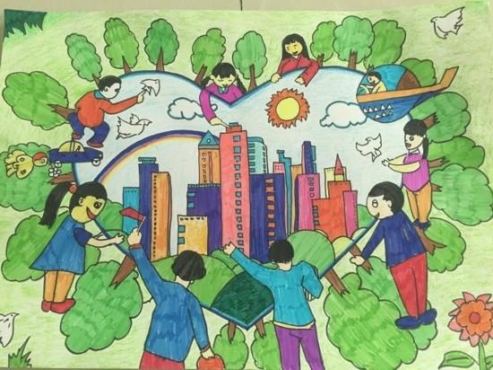 新疆民族大团结画_【云游新疆】百名儿童画新疆风物,邀您到新疆来!_四川在线
